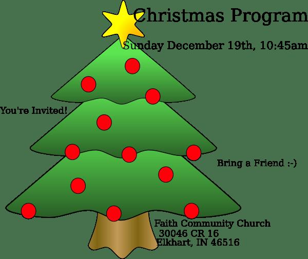 Christmas Program Clip Art at Clker.com - vector clip art ... (600 x 505 Pixel)