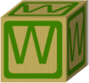 Letter Alphabet  Block W Clip Art