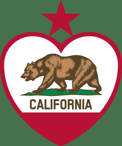 Download California Heart Clip Art at Clker.com - vector clip art ...