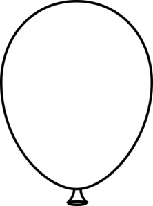 show me more balloon outline colouring pages