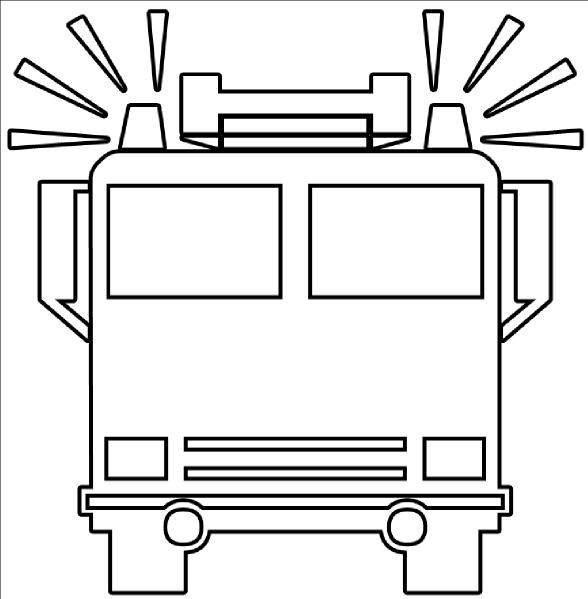 fire truck outline clip art at clker com vector clip art online