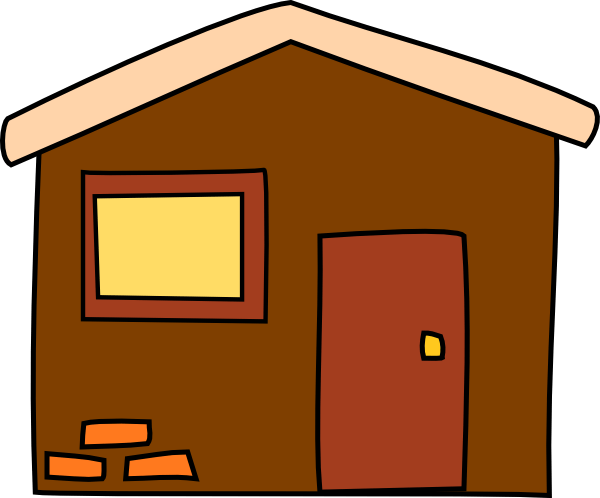 Brown House Clip Art at Clker.com - vector clip art online ... (600 x 498 Pixel)