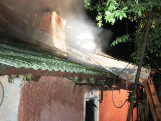 Incendiu în localitatea călărășeană Luptători, Frăsinet. FOTO ISU Călărași
