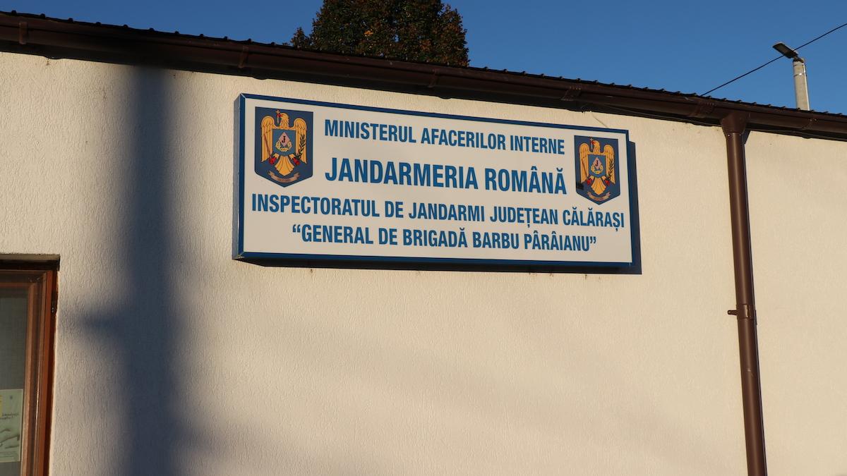 Inspectoratul de Jandarmi Județean Călărași. FOTO Adrian Boioglu