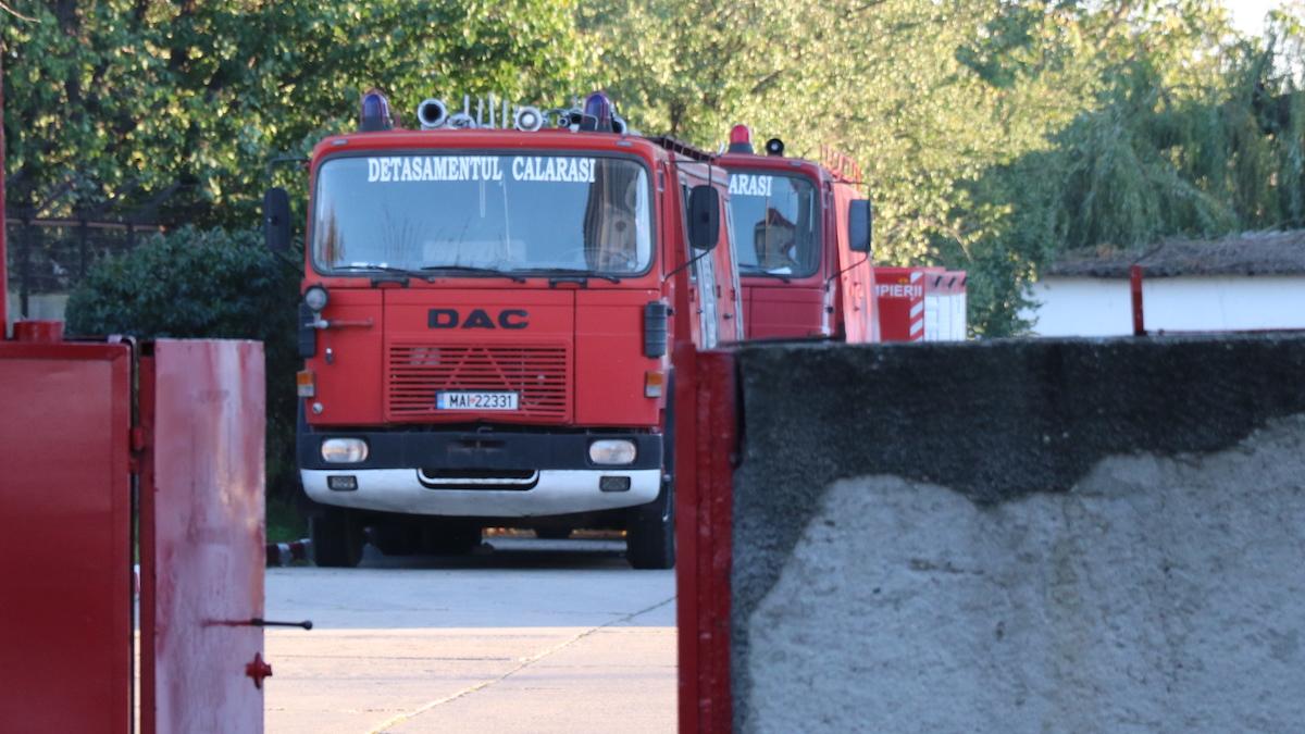 Mașină de pompieri de la Detașamentul Călărași. FOTO Adrian Boioglu