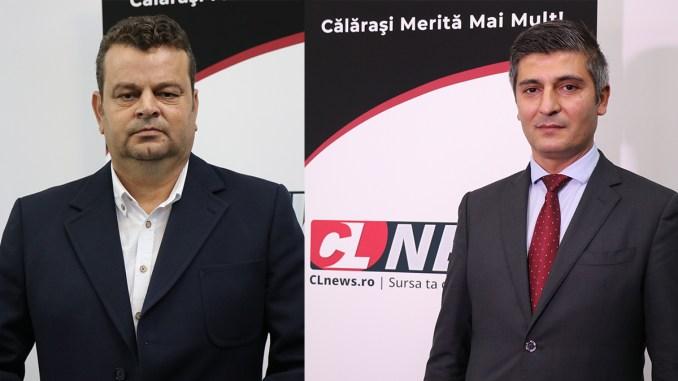 Nicușor Cionoiu și Constantin Bîrcă, candidații PSD Călărași la alegerile parlamentare. FOTO Liliana Boioglu