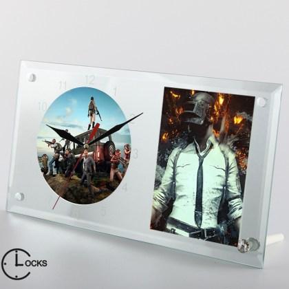 Ceas din sticla personalizat playerunknown's battlegrounds