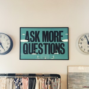 Ask More Questions on sign in shop