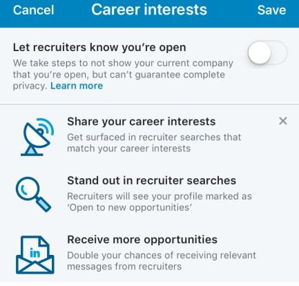 LinkedIn Setting