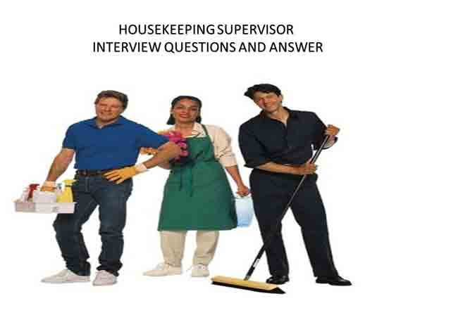 housekeeping supervisor interview