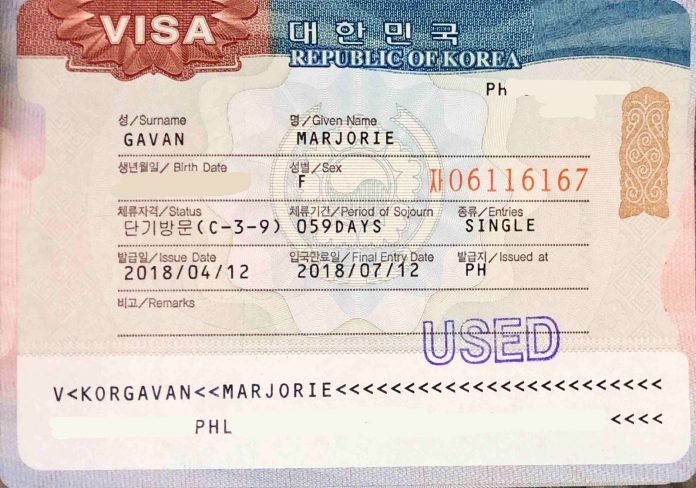 korean visa status