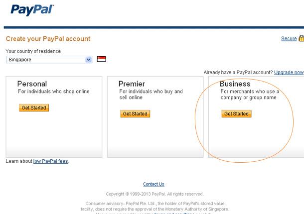 PayPal Account Setup