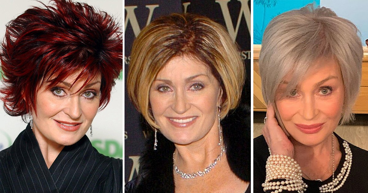 Sharon Osbourne S Haircuts And Hair Colors Red Blonde And More