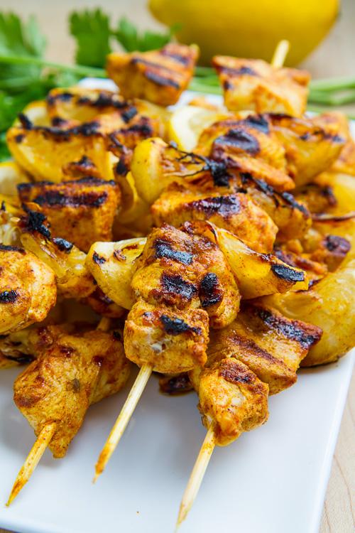 Moroccan Grilled Chicken Kabobs