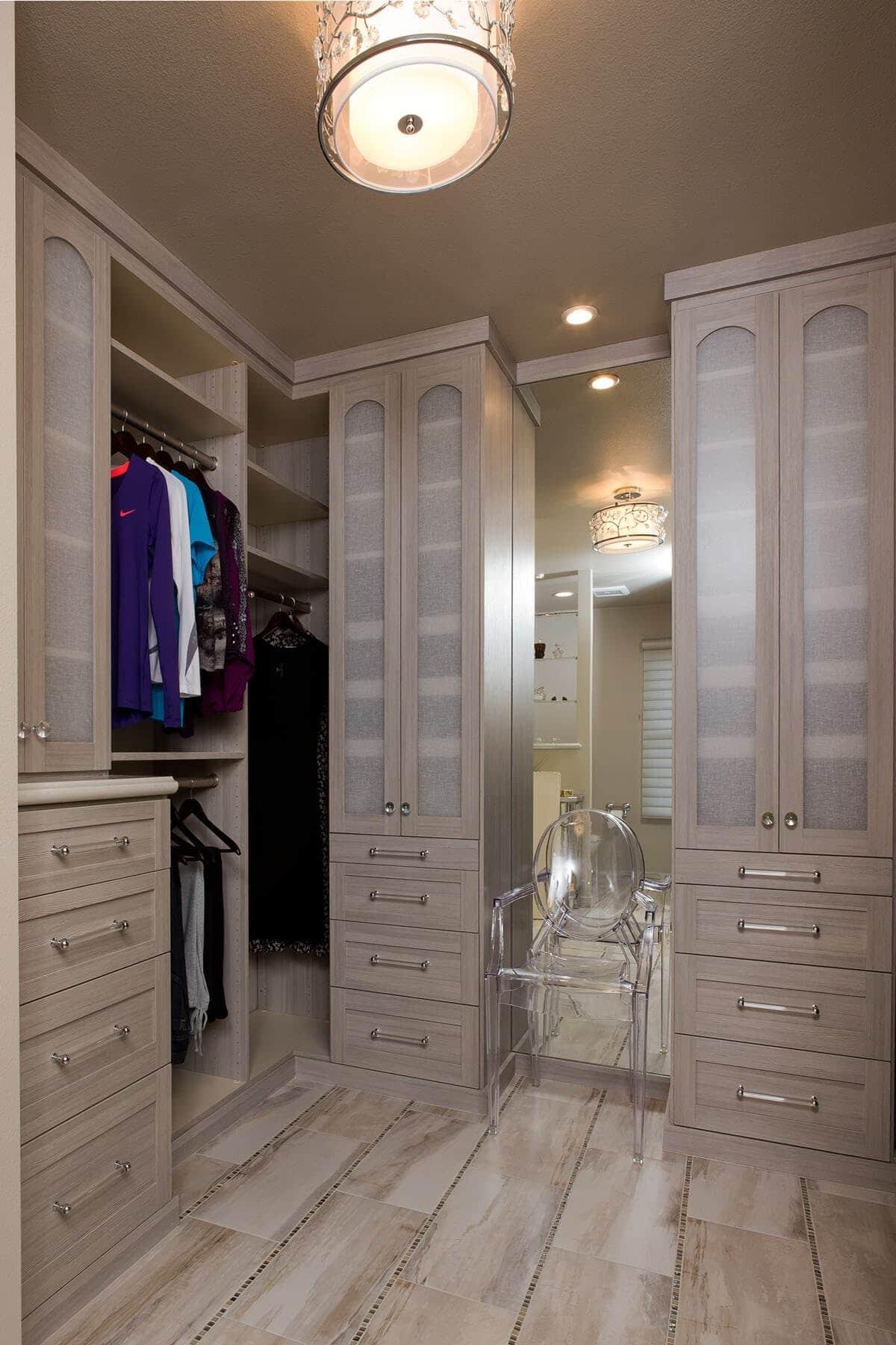 Wardrobe Wood Closet Large
