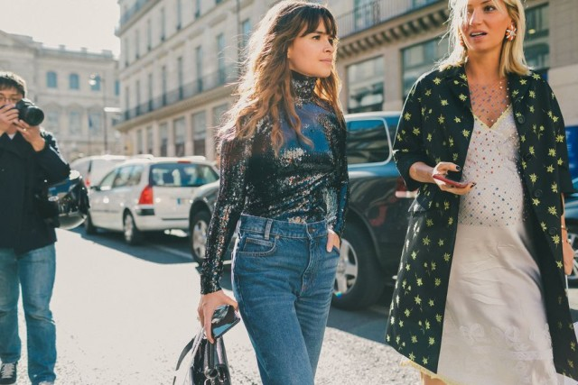 Image result for sequin blouse street style