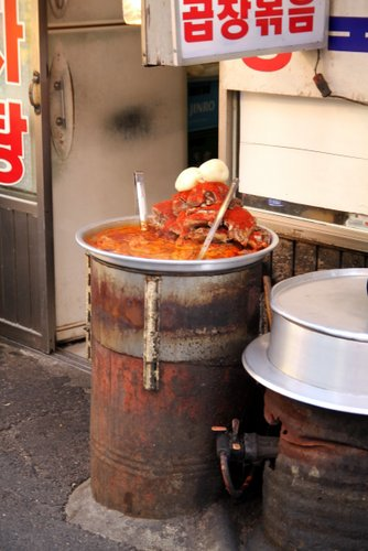 Backstreet food - full of chilli!