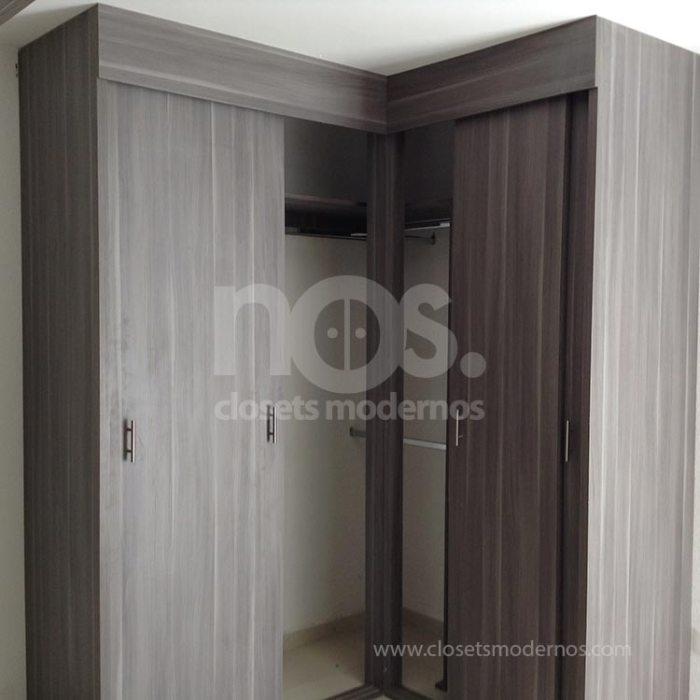 Closet en escuadra 4 nos closets modernos for Catalogo de closets