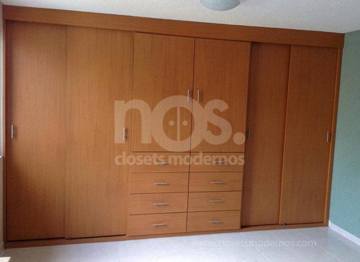 diseño de closets modernos minimalistas corredizos