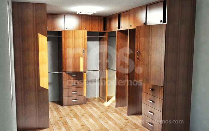 modelos de vestidores de madera 3