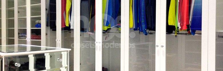 closets modernos para mujeres y vestidores de lujo economicos diseño a la medida fabricacion cdmx df mexico