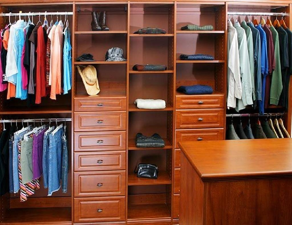 Closets To Go His And Her Walk In Closet Organizers Custom Closet Organizers For Wardrobes