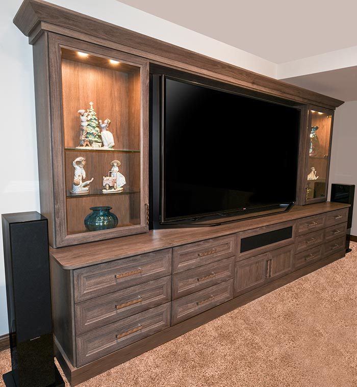 custom home theater cabinets units