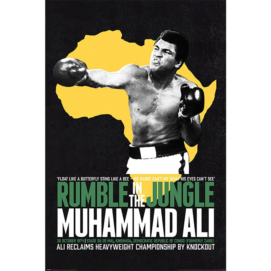 muhammad ali poster rumble in