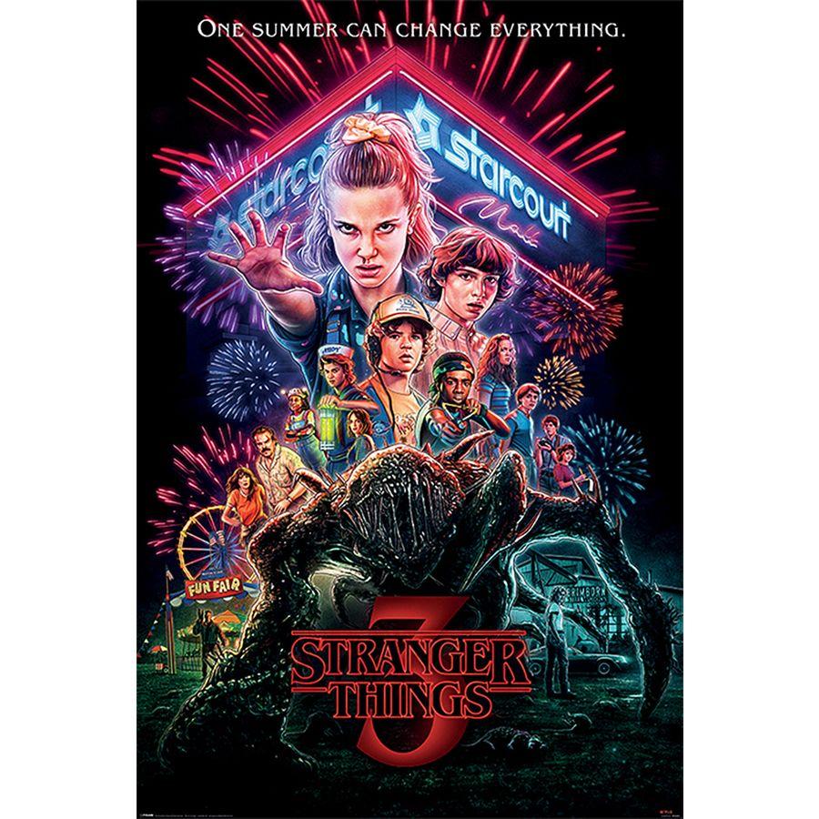 stranger things poster season 3 summer