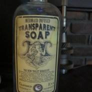 Transparent Soap Apothecary Jar