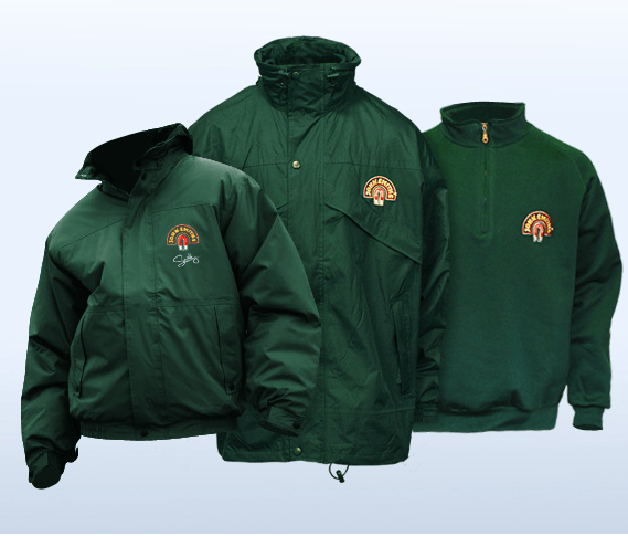 Personalised work wear winter jacket
