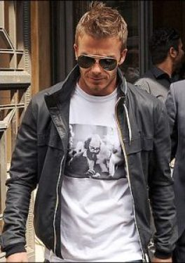 Beckham dons an Alan Ginsberg t-shirt