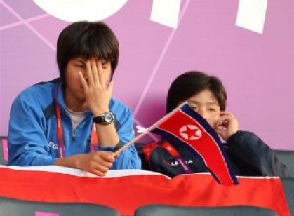 North Koreans shocked at South Korean's flag