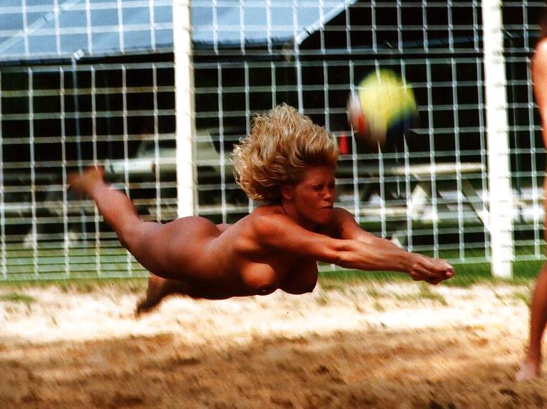 Intense volleyball