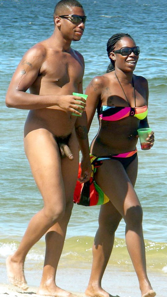 Mixed couple at beach