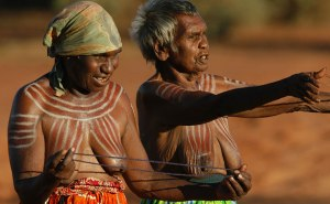 Photo of topLess aboriginal women preparing for native ceremony blocked from Facebook