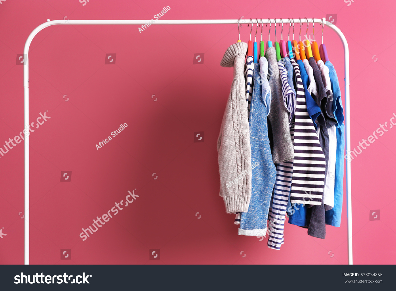 A Clothes Rack Needed to be Filled