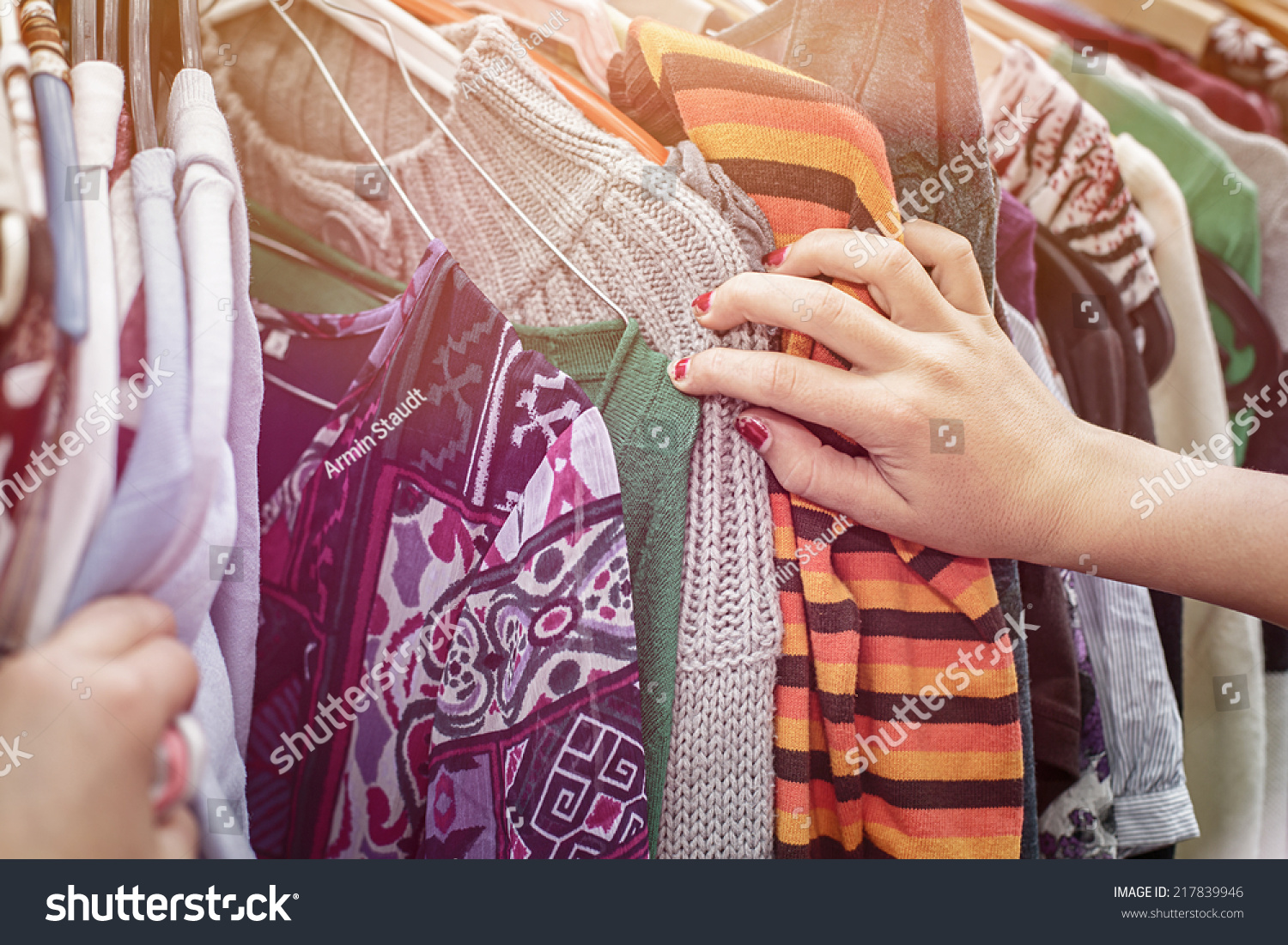 Browsing Through Clothing