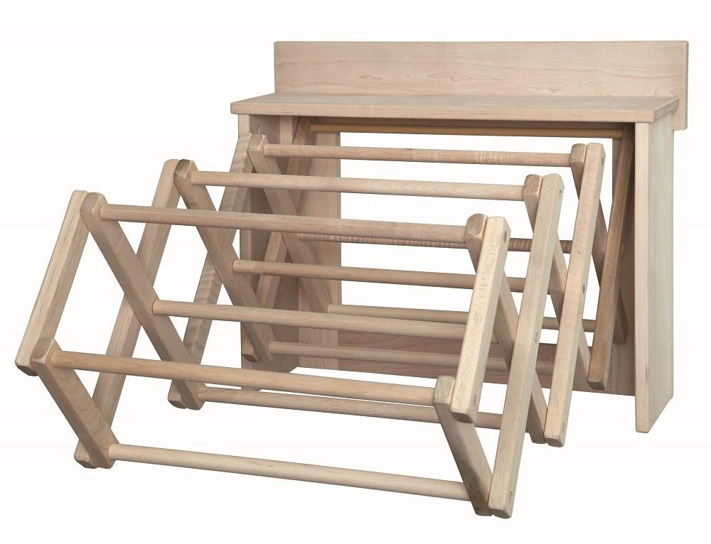 wall mounted wooden drying racks