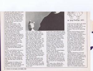 COLIN WATSON STYLE 1980 2/3