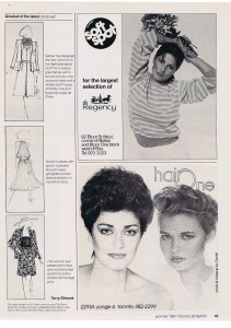 HUGH GARER FASHION SUMMER 1981