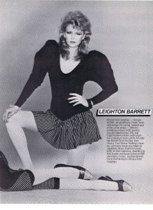 LEIGHTON BARRETT FASHION SPRING 1982