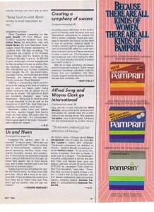 WAYNE CLARK FLARE MAY 1985