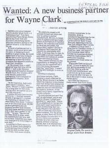 WAYNE CLARK TO STAR 30 01 1986