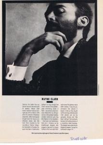 WAYNE CLARK FASHION WINTER 1987