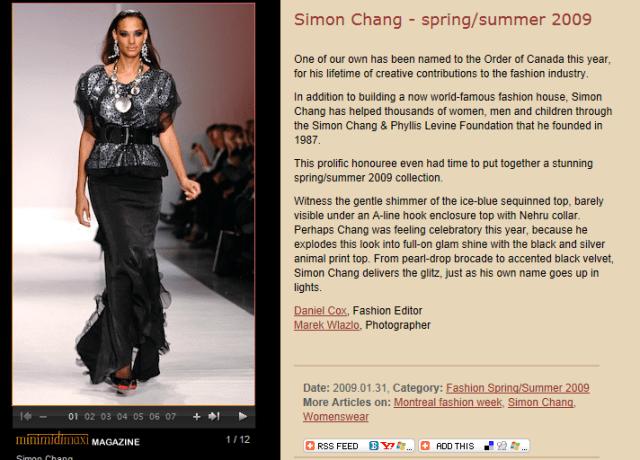 SIMON CHANG MINIMIDIMAXI 2009