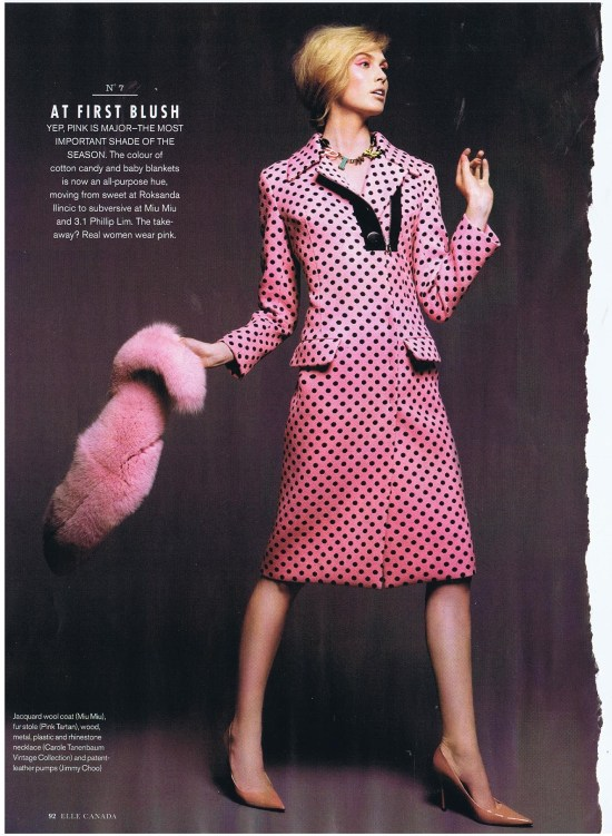 HOLTS PINK TARTAN ELLE AUGUST 2013