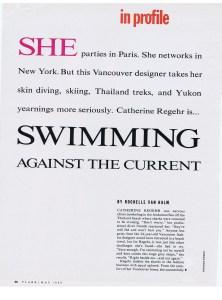 CATHERINE REGEHR FLARE MAY 1989 1/1