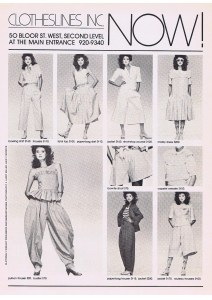 CLOTHESLINES FASHION SPRING 1982