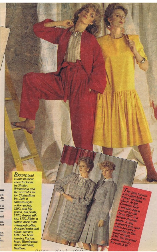 CLOTHESLINES TODAY MARCH 1982